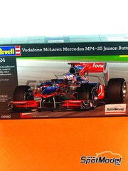 Revell: Model car kit 1/24 scale - McLaren MP4/25 Vodafone #1 - Jenson Button (GB) - Australian Grand Prix, British Grand Prix 2010 - plastic model kit