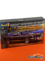 Revell: Model car kit 1/24 scale - Shelby Mustang GT 350 H - plastic parts, water slide decals and assembly instructions image