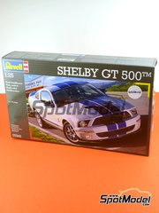 Revell: Model car kit 1/25 scale - Shelby GT500 - plastic parts, rubber parts, water slide decals, assembly instructions and painting instructions image