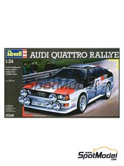 Revell: Model car kit 1/24 scale - Audi Quattro Rally