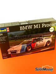 Revell: Model car kit 1/24 scale - BMW M1 Group 4 Procar #5, 6 - Niki Lauda (AT), Nelson Piquet (BR) - Zolder DRM 1979 and 2008 - plastic model kit