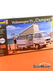 Revell: Model car kit 1/25 scale - Volkswagen Transporter T3 - plastic model kit image