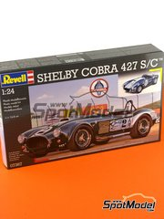 Revell: Model car kit 1/24 scale - Shelby Cobra 427 S/C #2, 11 - plastic parts, rubber parts, water slide decals and assembly instructions image