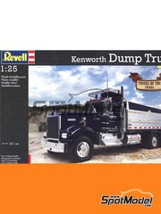 Revell: Model truck kit 1/25 scale - Kenworth W900 Dump Truck - plastic model kit image
