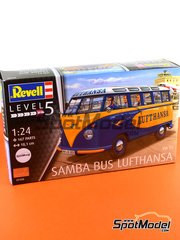 Revell: Model van kit 1/24 scale - Volkswagen Transporter T1 Lufthansa - plastic model kit image