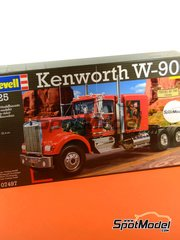 Revell: Model truck kit 1/25 scale - Kenworth W900 - plastic model kit