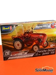 Revell: Model tractor kit 1/24 scale - Porsche Diesel Junior 108 tractor - plastic parts, rubber parts, water slide decals and assembly instructions