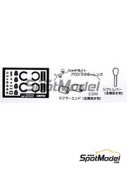 Sakatsu: Photo-etched parts 1/24 scale - Honda S2000 - for Tamiya kit