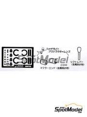 Sakatsu: Photo-etched parts 1/24 scale - Honda S2000 - for Tamiya kit
