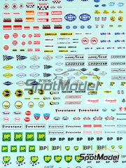Sakatsu: Decals 1/32 scale - Sponsors 1960-1970: Autolite, NGK, BP, Firestone, Pure, Campagnolo, Carello, Goodyear, ...