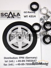 Scala43: Upgrade 1/43 scale - OZ Racing  5 nuts rims