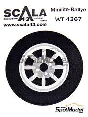 Scala43: Upgrade 1/43 scale - Minilite Braid rims for Ford Escort - 4 nuts