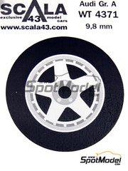 Scala43: Upgrade 1/43 scale - Speedline Audi - 5 nuts rims