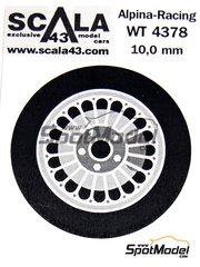 Scala43: Upgrade 1/43 scale - Alpina Racing - 5 nuts rims