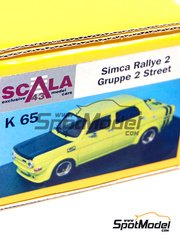 Scala43: Model car kit 1/43 scale - Simca 1000 Group 2 Street Version 1971 - resin multimaterial kit