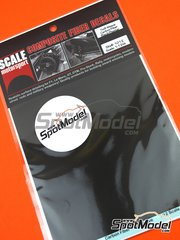 Scale Motorsport: Decals 1/12 scale - Extra large size twill weave carbon fiber pattern in black and pewter - water slide decals
