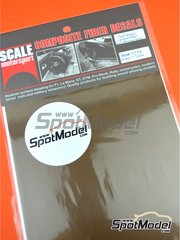 Scale Motorsport: Decals 1/12 scale - Extra large size twill weave carbon fiber pattern in black and bronze - water slide decals