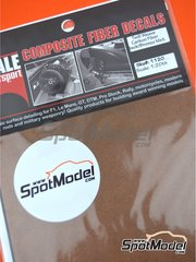 Scale Motorsport: Decals - Carbon fiber twill weave black on bronze big size pattern - 12 x 18.5 cm - water slide decals image