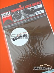 Scale Motorsport: Decals 1/24 scale - Carbon fiber twill weave black on bronze medium size pattern - 12 x 18.5 cm - water slide decals image