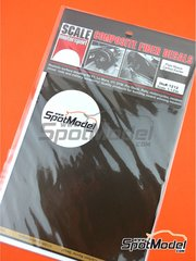 Scale Motorsport: Decals 1/12 scale - Extra large twill weave Kevlar pattern in black and amber - water slide decals