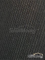 Scale Motorsport: Decals 1/20 scale - High definition large size plain weave carbon fiber pattern black on pewter - water slide decals