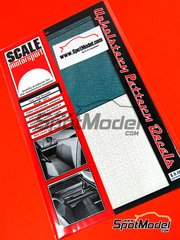 Scale Motorsport: Decals - Teal brocaide - 12 x 18.5 cm