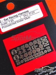 Scale Motorsport: Detail 1/20 scale - Seat Belt Hardware - photo-etched parts - 2 units