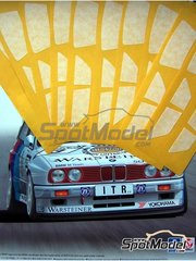 Scale Production: Mascara de pintura para el marco de los cristales escala 1/24 - BMW M3 E30 - máscaras de pintura y manual de instrucciones - para kit de Beemax Model Kits B24007