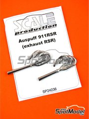 Scale Production: Exhaust 1/24 scale - Porsche 911 RSR - metal parts