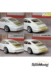 Scale Production: Transkit 1/24 scale - Porsche 964 993 singer style spoiler - resin parts - for Fujimi references FJ123110 and FJ123431, or Tamiya references TAM24175 and TAM24247