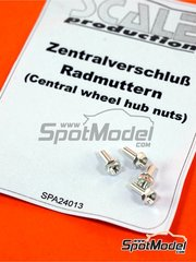 Scale Production: Nuts 1/24 scale - Central wheel hub nuts - metal pieces