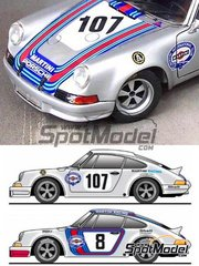 Scale Production: Marking / livery 1/24 scale - Porsche 911 RSR Martini Racing #107,8 - Targa Florio 1973