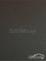 Scale Production: Decals - Twill weave carbon fiber - silver + black - Small size - 150x210mm