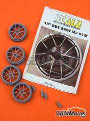 Scale Production: Upgrade 1/24 scale - 18 inches BBS rims for BMW M3  - DTM 2012 - 2013 - resins - 4 units