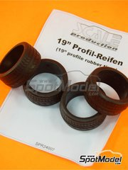 Scale Production: Tyre set 1/24 scale - 19 inches tread - 4 units
