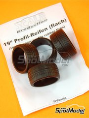 Scale Production: Tyre set 1/24 scale - 19 inches Ultra low profile - 4 units