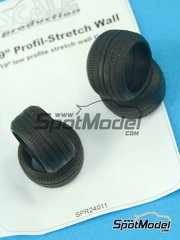 Scale Production: Tyre set 1/24 scale - 15 to 19 inches stretch wall - 4 units