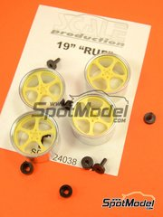 Scale Production: Rims 1/24 scale - 19 inches RUF - resin parts and turned metal parts - 4 units