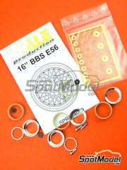 Scale Production: Rims 1/24 scale - BBS E56 16 inches - CNC metal parts, photo-etched parts and turned metal parts - 4 units image