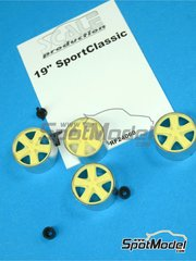 Scale Production: Rims 1/24 scale - 19 inches Porsche Sport Classic - metal parts and resins - 4 units