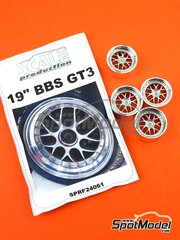 Scale Production: Rim 1/24 scale - BBS GT3 Cup 19 inches - metal parts and resins - 4 units