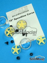 Scale Production: Rims 1/24 scale - Speedline Corse 19 inches - metal parts and resins - 4 units
