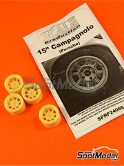 Scale Production: Rims 1/24 scale - Campagnolo 15 inches for Porsche classic cars - resins - 4 units