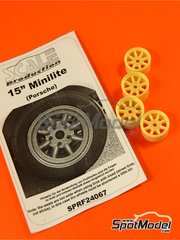 Scale Production: Rim 1/24 scale - Minilite 15 inches for Porsche - resins - for Revell kits REV07031 and REV07032, or Tamiya kit TAM24328 - 4 units