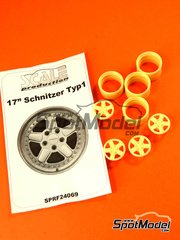 Scale Production: Rims 1/24 scale - Schnitzer T1 17 inches - resin parts - 4 units