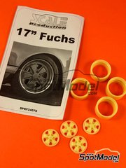 Scale Production: Rims 1/24 scale - Fuchs 17 inches rims set - resin parts - 4 units