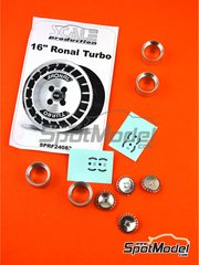 Scale Production: Rim 1/24 scale - Ronal Turbo 16 inches - metal parts, turned metal parts and water slide decals