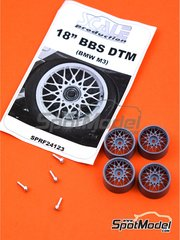 Scale Production: Rims 1/24 scale - BBS DTM 18 inches  - metal parts and resin parts - 4 units