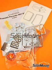 Scale Production: Transkit 1/24 scale - Porsche 911 P997 GT3R - paint masks, photo-etched parts, plastic parts, resin parts, seatbelt fabric, turned metal parts, other materials and assembly instructions - for Fujimi references FJ123905, 123905 and RS-85