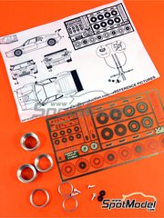 Scale Production: Detail up set 1/24 scale - BMW M1 - CNC metal parts, photo-etched parts, plastic parts, turned metal parts and assembly instructions - for Revell reference REV07247